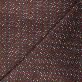 Milleraies velvet fabric - brown Cordy x 10cm