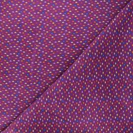 Tissu velours milleraies Cordy - violet x 10cm
