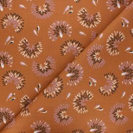Tissu coton cretonne Roami - cannelle x 10cm
