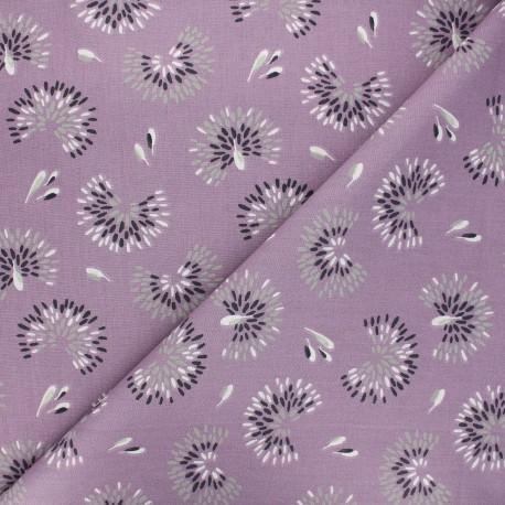 Tissu coton cretonne Roami - parme x 10cm