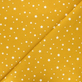 Cretonne cotton fabric - mustard yellow Zétoile x 10cm