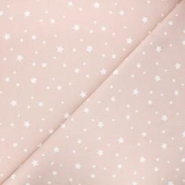 Tissu coton cretonne Zétoile - nude x 10cm