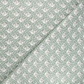 Tissu coton cretonne Fauzy - kaki x 10cm