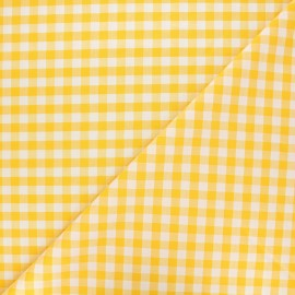 Big checked Vichy fabric - lemonade x 10cm