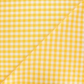 Tissu Vichy grands carreaux Citronnade x 10cm