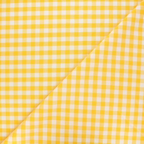 Tissu Vichy grands carreaux Citronade x 10cm