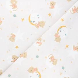 Tissu coton cretonne Oluna - grège x 10cm