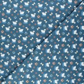Jersey cotton fabric - blue Goose x 10cm