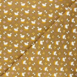 Jersey cotton fabric - ochre Goose x 10cm