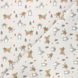 Tissu coton cretonne Tayo - grège x 10cm