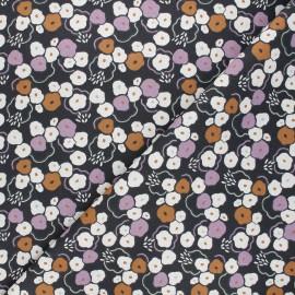 Cretonne cotton fabric - anthracite grey Rinad x 10cm