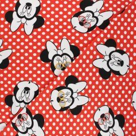 Tissu jersey Mimi Minnie - rouge x 10cm