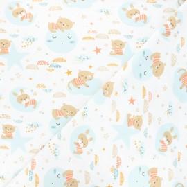 Jersey fabric - white Amiki x 10cm