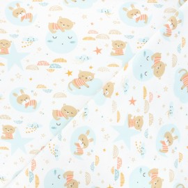 Tissu jersey Amiki - blanc x 10cm