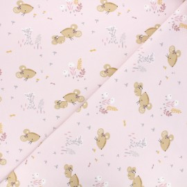 Jersey fabric - light pink Mousia x 10cm