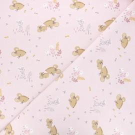 Tissu jersey Mousia - rose clair x 10cm