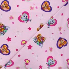 Jersey cotton fabric - pink Girly Pat'Patrouille x 10cm