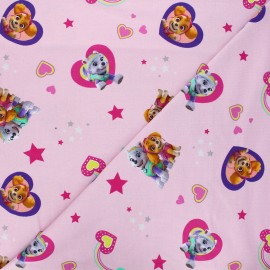 Tissu jersey Girly Pat'Patrouille - rose x 10cm