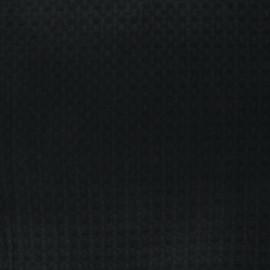 Double-sided Big Waffle cotton fabric - black Owa x 10cm