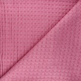 Tissu coton gaufré Owa - rose x 10cm