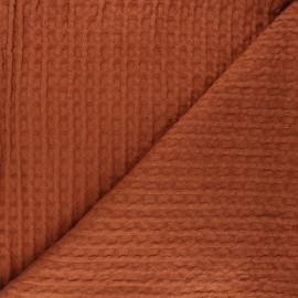 Tissu coton nid d'abeille XL Owa - roux x 10cm