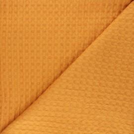 Double-sided Big Waffle cotton fabric - yellow Owa x 10cm
