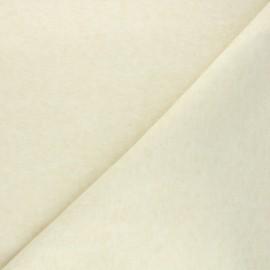 Tissu maille tricot Windy - crème x 10cm