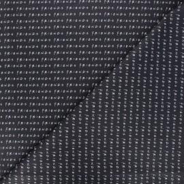 Friends Cretonne cotton fabric - black Friends x 10cm