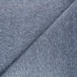 Tissu maille tricot Windy - bleu gris x 10cm