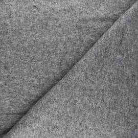 Tissu maille tricot Windy - gris x 10cm
