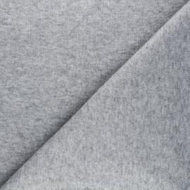 Tissu maille tricot Windy - gris clair x 10cm