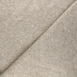 Tissu maille tricot Windy - beige x 10cm