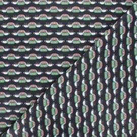 Friends Cretonne cotton fabric - black Central Perk x 10cm