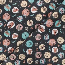 Tissu coton cretonne Scooby-Doo - noir x 10cm