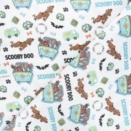 Tissu coton cretonne Scooby-Doo team - blanc x 10cm