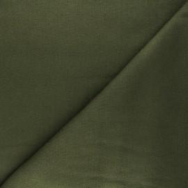 Tissu maille tricot Windy - vert kaki x 10cm