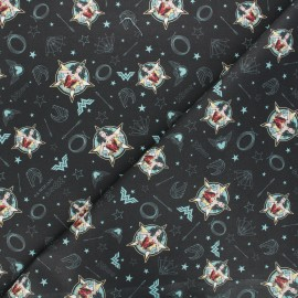 Tissu coton cretonne Wonder Woman 84 - noir x 10cm