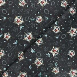 Wonder Woman Cretonne cotton fabric - black Wonder Woman 84 x 10cm
