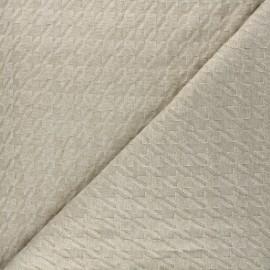 Tissu maille tricot Pied-de-coq - beige x 10cm
