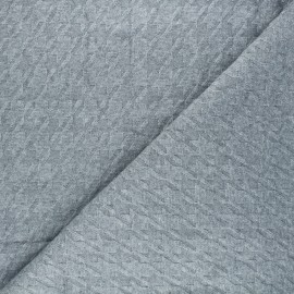 Knit fabric - grey Pied-de-coq x 10cm