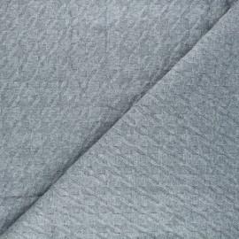 Tissu maille tricot Pied-de-coq - gris x 10cm
