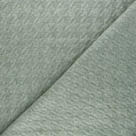 Tissu maille tricot Pied-de-coq - vert x 10cm