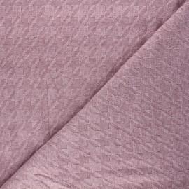Knit fabric - pink Pied-de-coq x 10cm