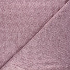 Tissu maille tricot Pied-de-coq - rose x 10cm