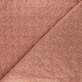 Knit fabric - orange Pied-de-coq x 10cm
