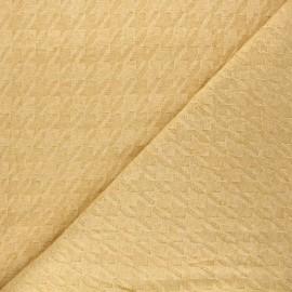 Tissu maille tricot Pied-de-coq - jaune x 10cm