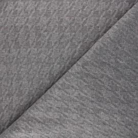 Tissu maille tricot Pied-de-coq - gris taupe x 10cm