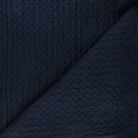Double-sided Big Waffle cotton fabric - navy blue Owa x 10cm