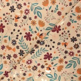 Tissu jersey Autumnal nature - beige x 10cm