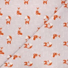 Tissu jersey Winter fox - rose clair x 10cm